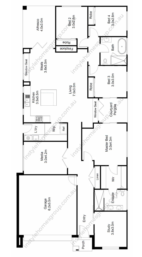 Instyle Homes Group Macedon Floor Plan