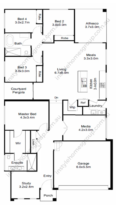 Instyle Homes Group Macedon Hampshire Floor Plan