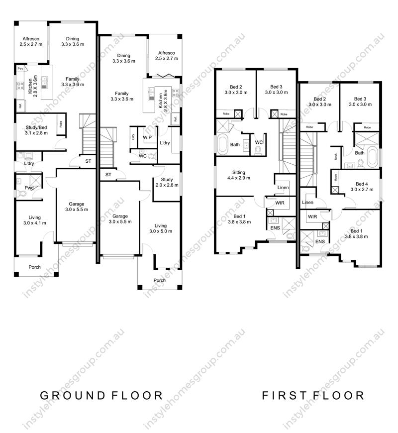Duplex 1281 Floor Plan